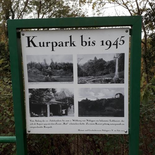 Infotafel Kurpark bis 1945