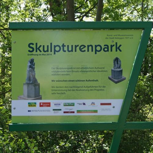 Infotafel Skupturenpark